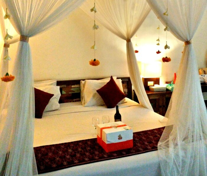 Honeymoon decorations and freebies in Bali