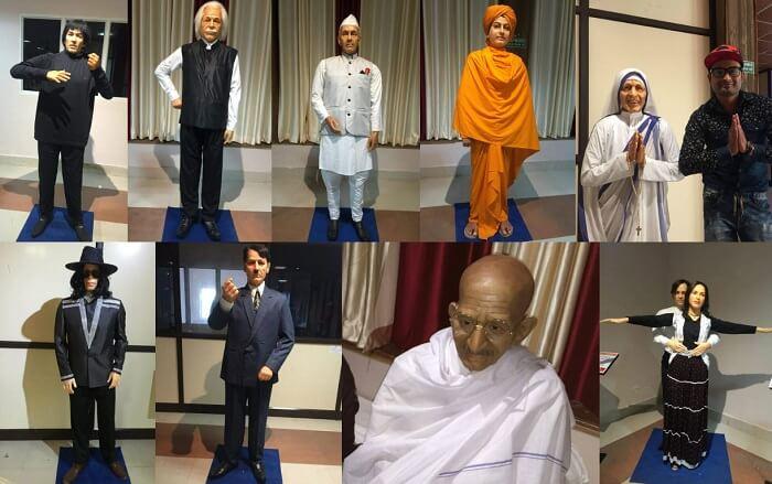 Wax idols of various celebrities in K Devbhoomi Museum in Mussoorie