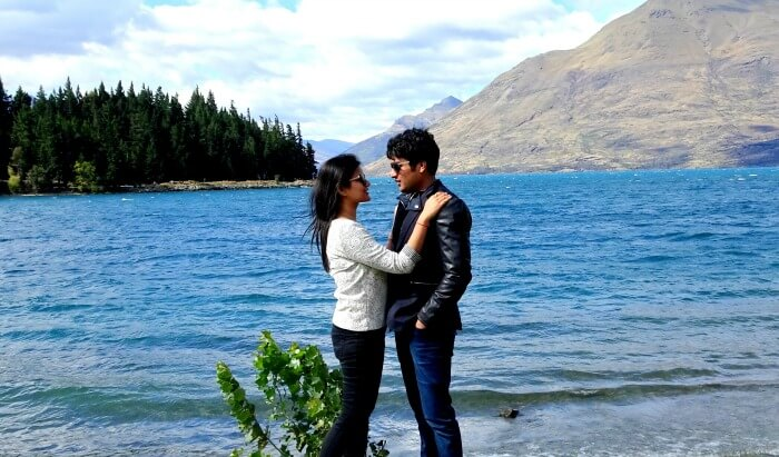 Vinamra and Ankita in Queenstown
