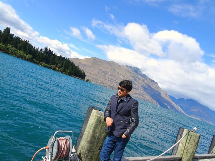 Vinamra amidst nature in Queenstown