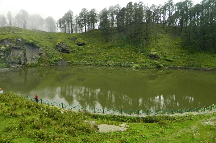 A shot of the Serolsar Lake near Tirthan Valley