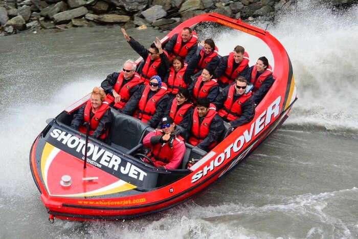 Vinamra and Ankita on a shotover ride in New Zealand