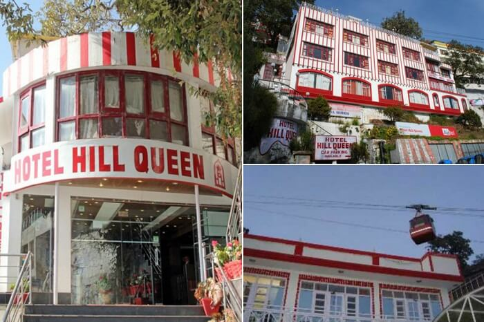 Many views of the Hotel Hill Queen on Mall Road in Mussoorie