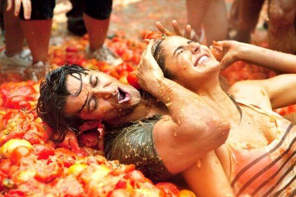 Celebrate La Tomatina festival in Spain