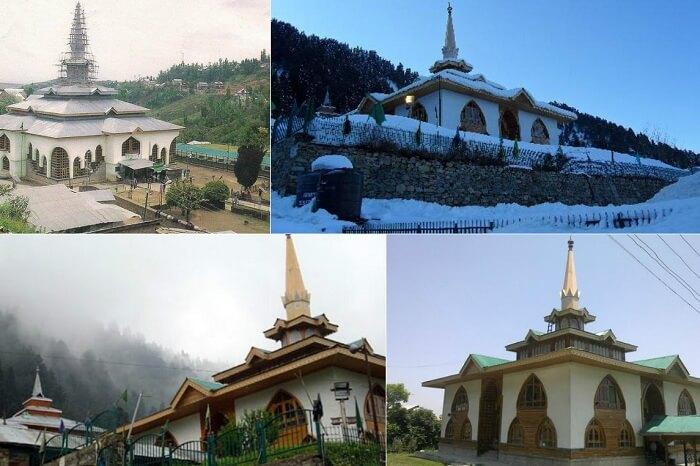 Many views of the Shrine of Baba Reshi in Gulmarg