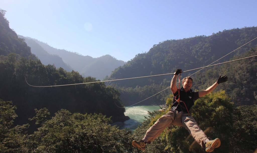 ziplining in Rishikesh