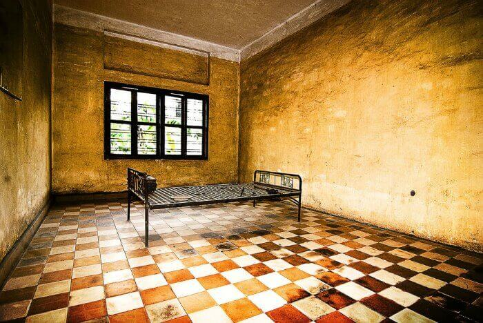 A torture room inside Tuol Sleng, the erstwhile S-21 Detention Centre in Cambodia