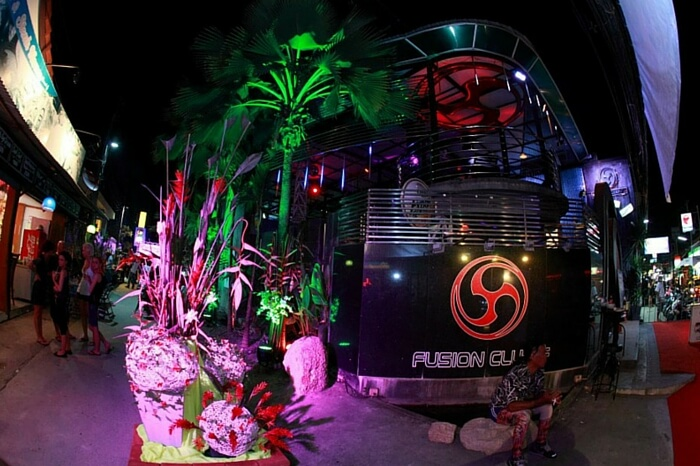A view of the entrance of the Fusion Bar in Koh Samui