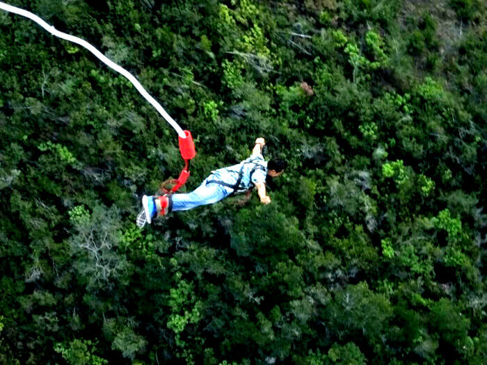 Shivaramakrishnan bungee jumping in South Africa