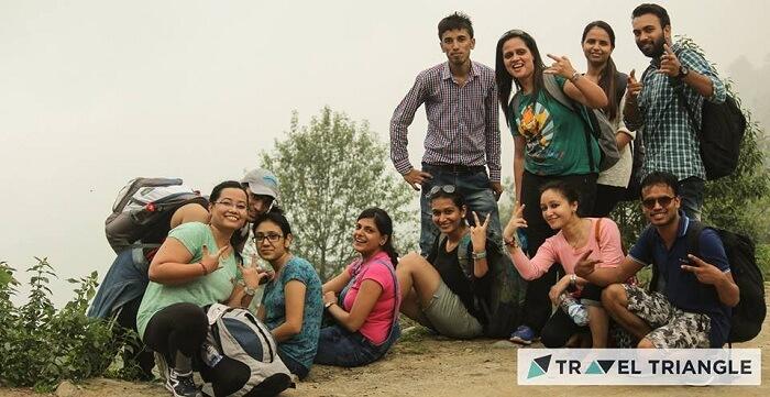 Friends in Triund in Himachal