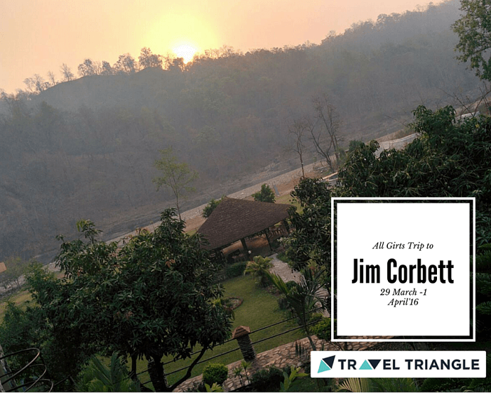 View of the Myrica Resort in Jim Corbett