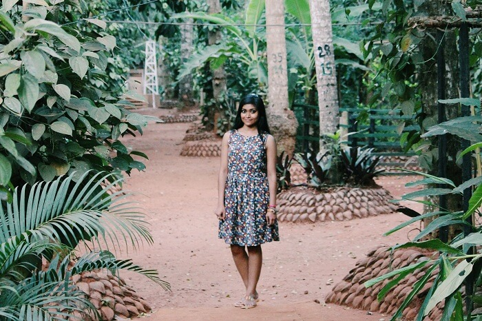 Kanika amidst nature in Sri Lanka