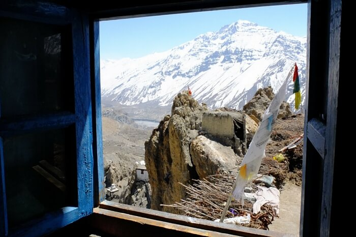 View from a home stay in Spiti