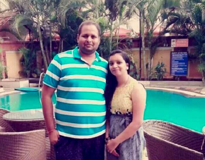 Chetan and his wife in Goa