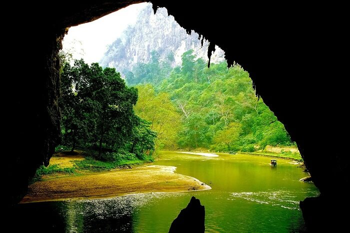 A perspective from inside of Puong Cave at Ba Be National Park