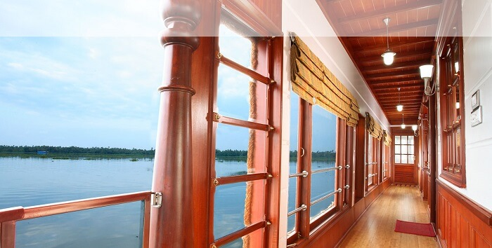 The perfect vantage point for taking in the beauty surrounding houseboats in Alleppey