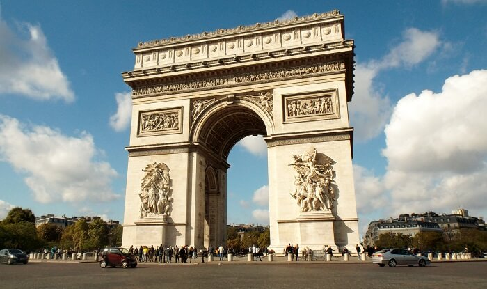 Arc de Triomphe is cited to be the most visited tourist places in Paris