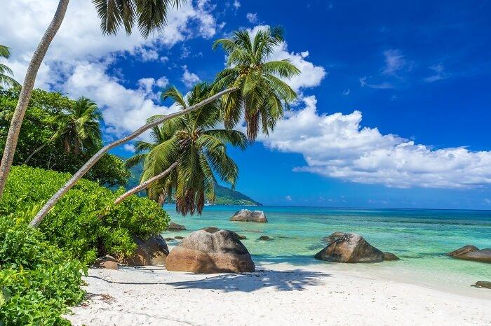 Beau Vallon Beach on island Mahe in Seychelles