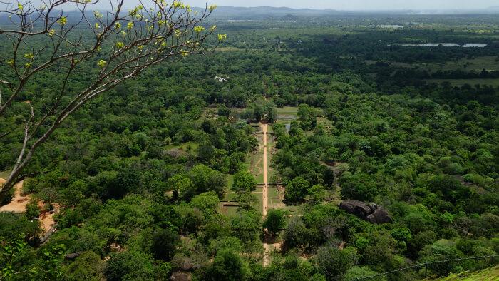 Breathtaking view of Sigiriya
