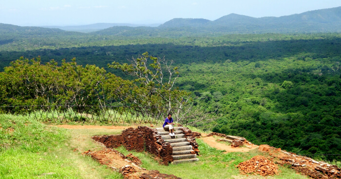 Lush green hills of Sigiriya