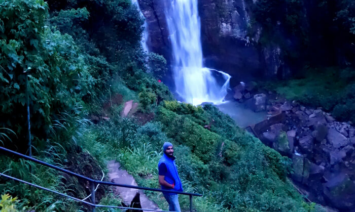 View in the evening at Rombada Falls