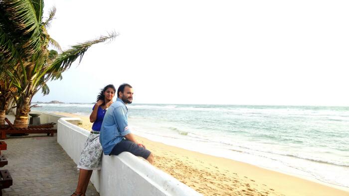 Relaxing at the beach in Bentota