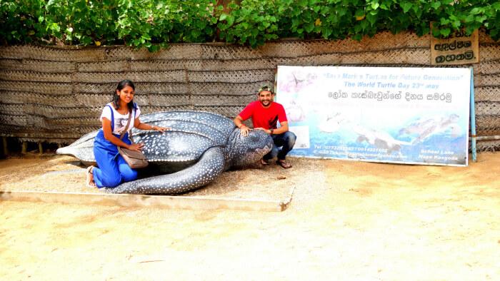 Priyanka and her husband in Bentota