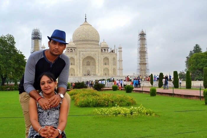 Vineet and his wife in Agra
