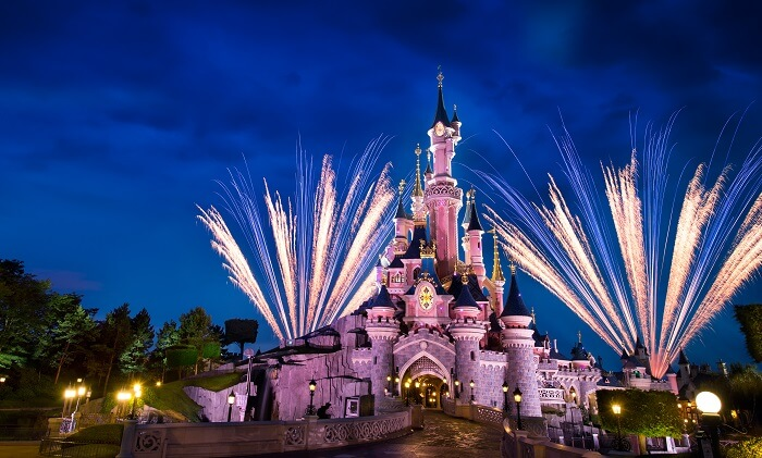 The famous castle of Disneyland - one of the favourite destinations in Paris for kids and adults alike