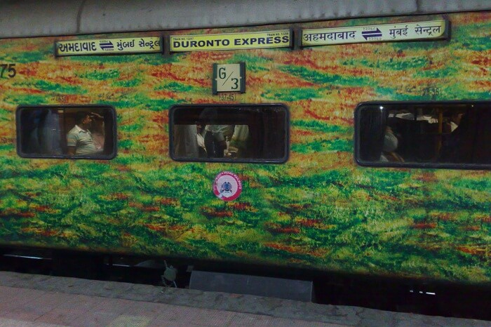 A snap of the Duronto Express that is one of the fastest trains in India
