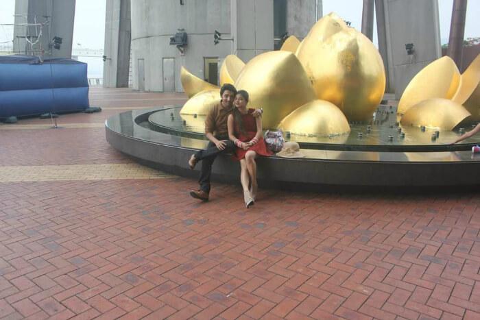 Mitul and his wife in Macau