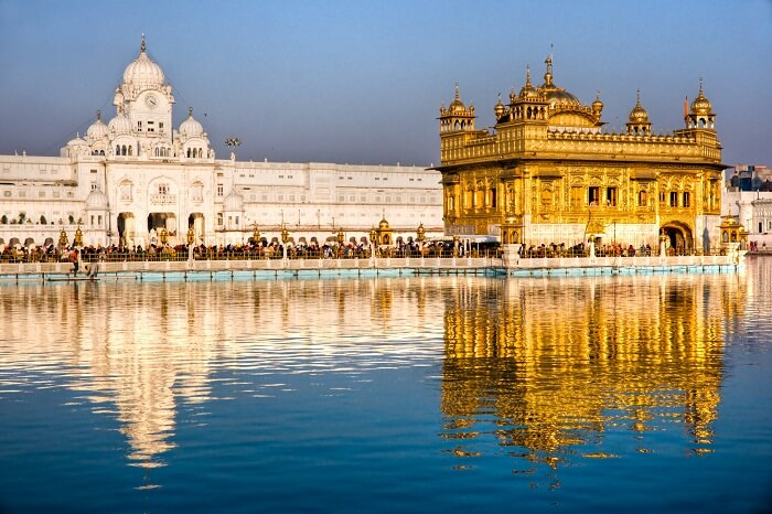 People at Golden Temple in Amritsar
