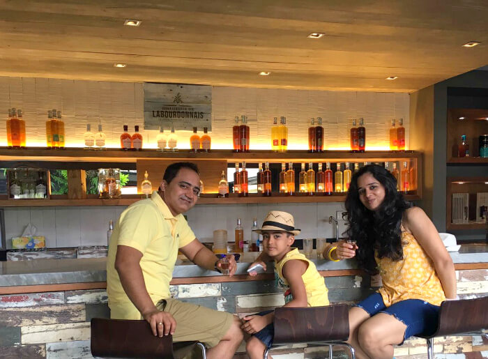 Raj Kumar and his family at Le Meridian Hotel