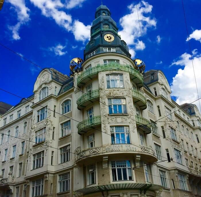 Neo-classical architecture at it's display in Vienna
