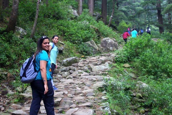 Aditi during a trek in Mcleodganj