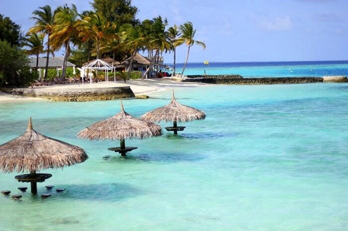 Beach at Cenntara Ras Fushi in Maldives