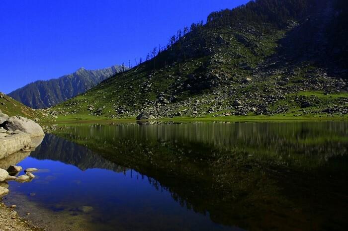 Kareri Dal Lake in Dharamshala exuding serenity and tranquility