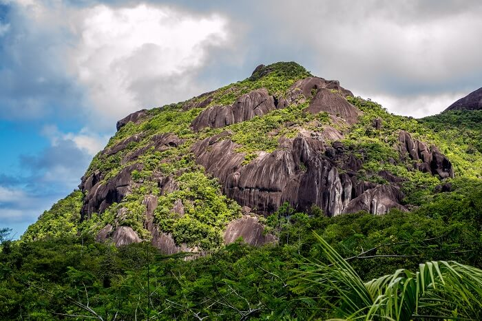 A distant shot of the Morne Seychellois National Park in Seychelles
