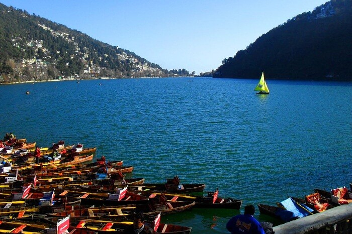 A view of the beautiful Naini Lake