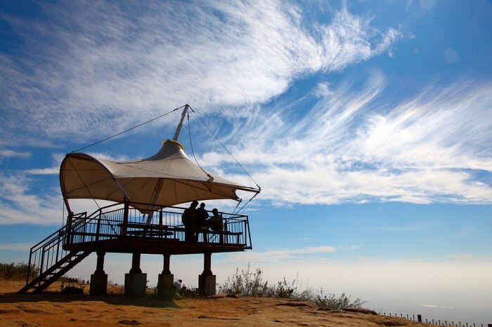 A lookout lodge at the top of Nandi Hills - One of the best places to see in Karnataka