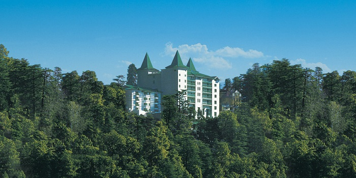 Oberoi Cecil in Shimla standing tall amongst mighty cedar trees on mountains