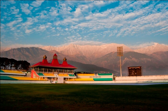 Famous cricket ground in Dharamshala is one of the landmark places to visit in Dharamshala