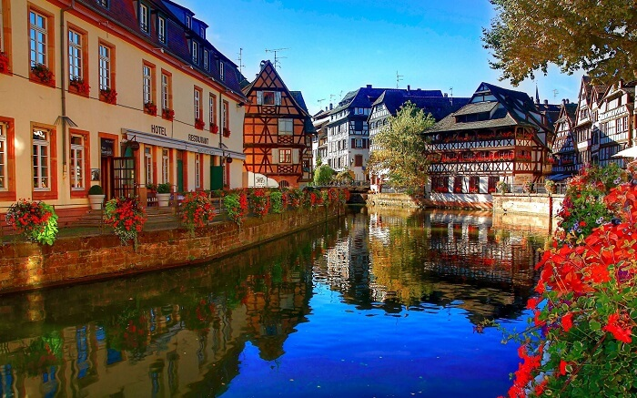 A beautiful canal in France - One of the charming places to visit in France