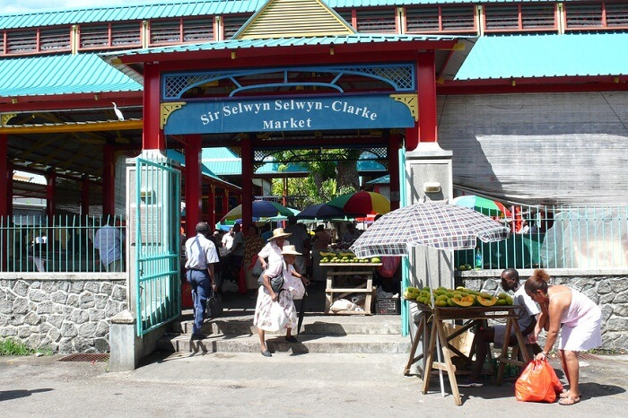 The entrance of the Sir Selwyn Selwyn Clarke Market