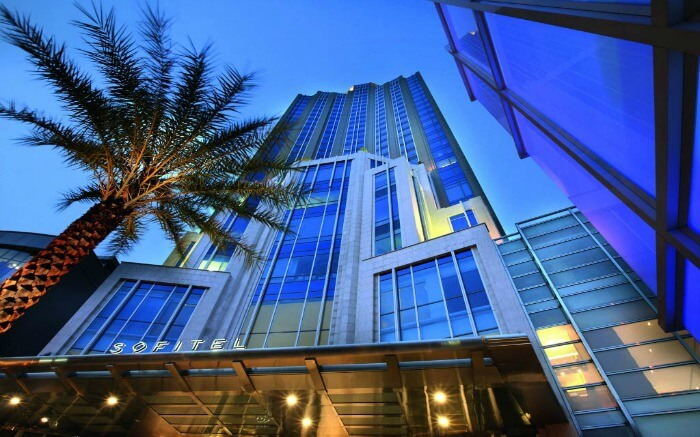 Front view of Sofitel Hotel in Bangkok