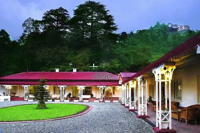 The front face of Claridges Nabha Residence in Mussoorie
