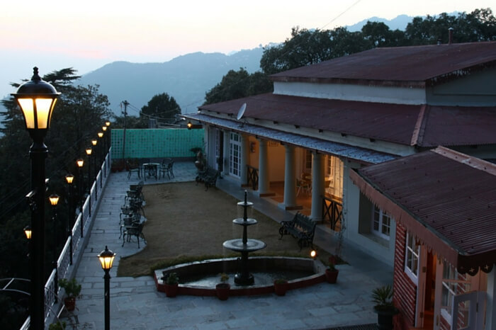 A picturesque evening at Karma Vilas resort in Mussoorie