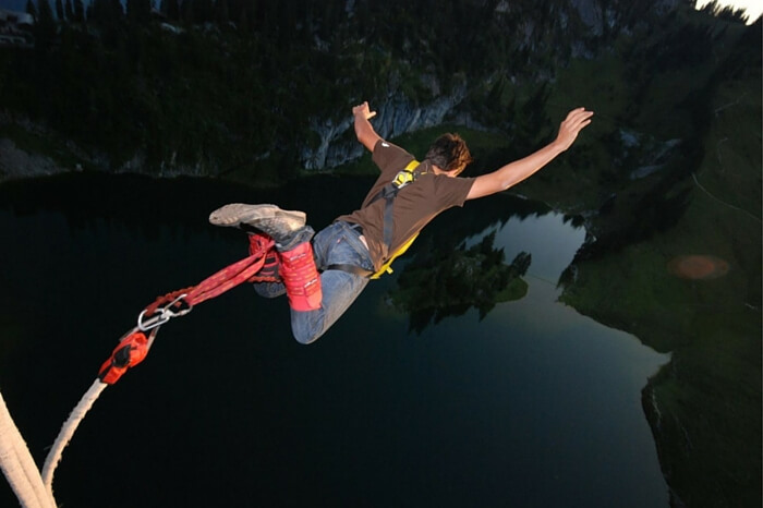 Bungee Jumping from the highest point in Thailand