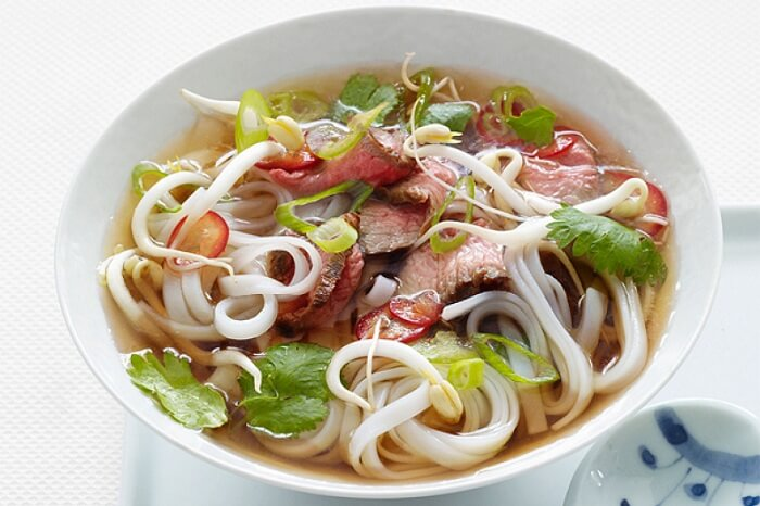 The famous Vietnamese Pho noodle soup