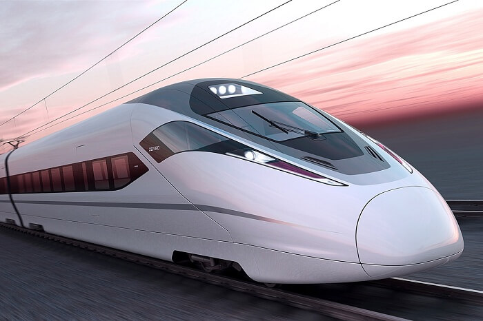 A representative image of how the bullet train in India might look